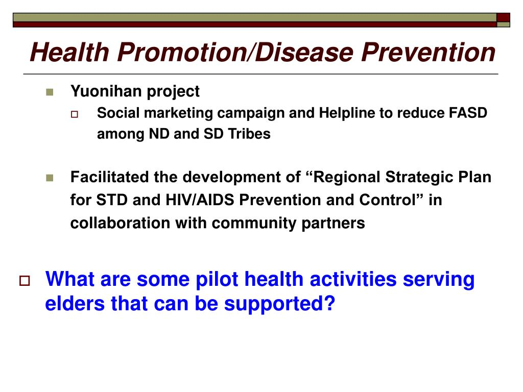 Health Promotion/Disease Prevention