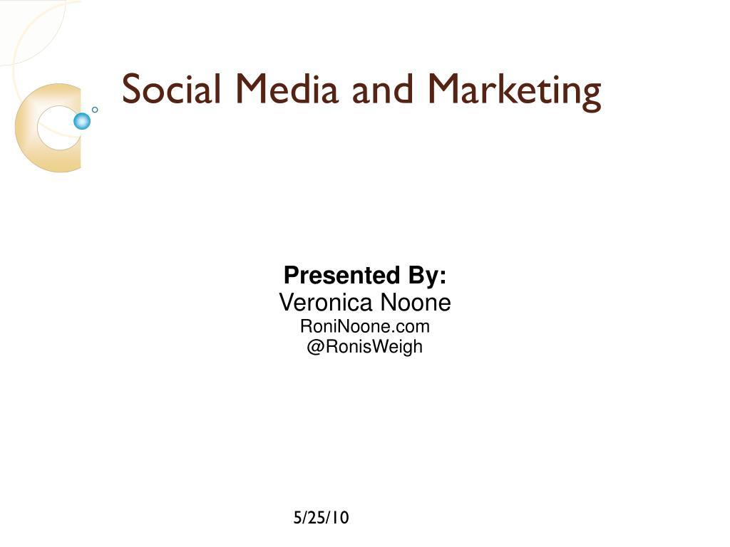 social media and marketing l.