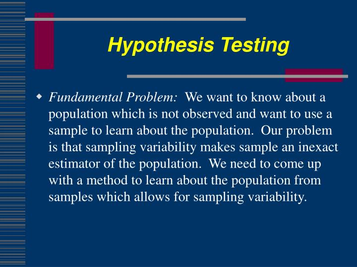 Hypothesis testing1