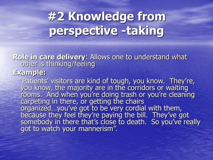 #2 Knowledge from perspective -taking