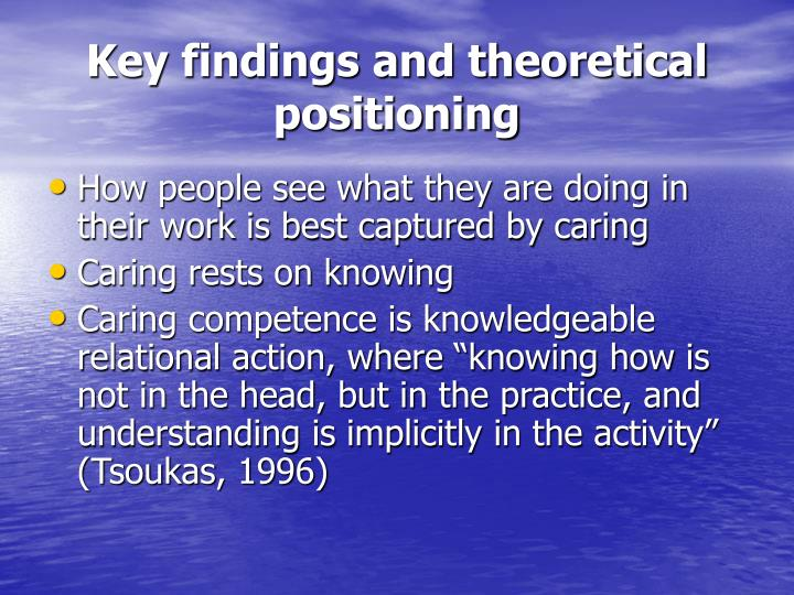 Key findings and theoretical positioning