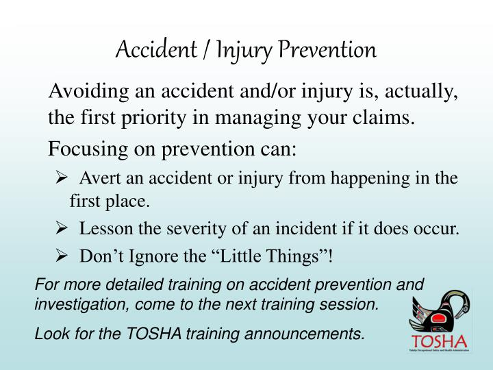 Accident / Injury Prevention