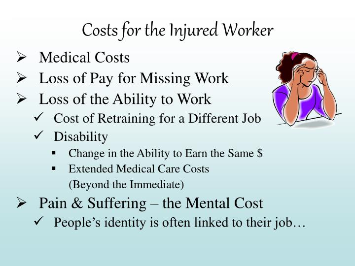 Costs for the Injured Worker