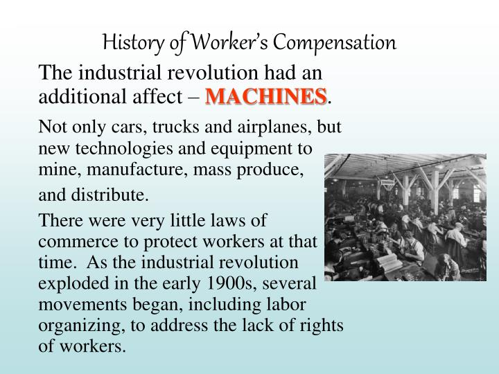 History of Worker's Compensation