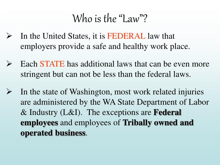 "Who is the ""Law""?"