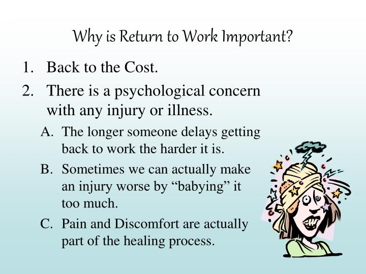 Why is Return to Work Important?