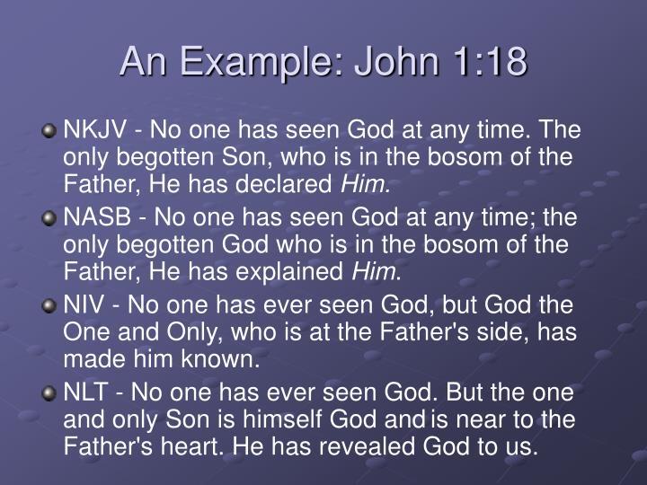 An Example: John 1:18