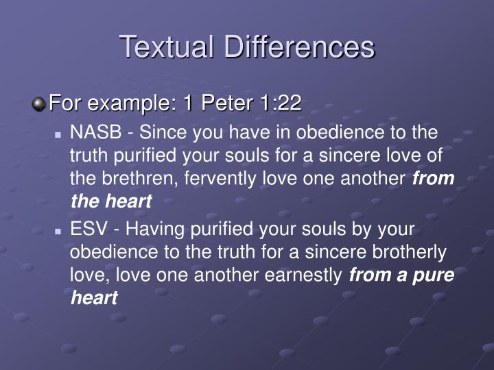 Textual Differences