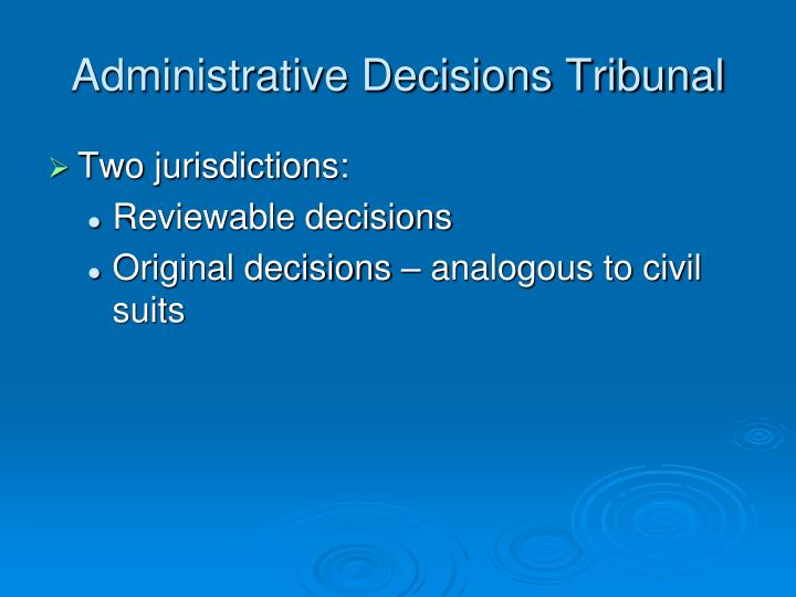 Administrative Decisions Tribunal