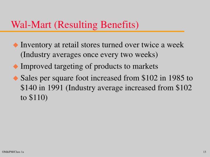 Wal-Mart (Resulting Benefits)