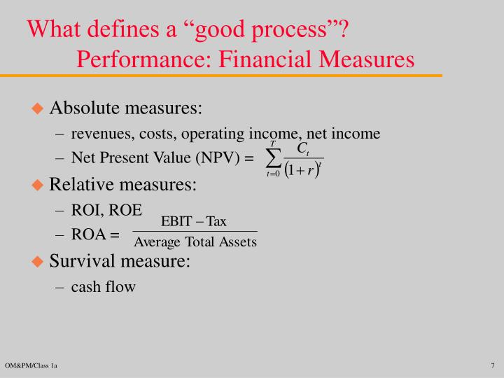 """What defines a """"good process""""?"""