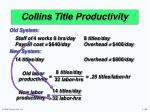collins title productivity2