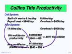 collins title productivity6