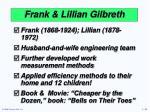 frank lillian gilbreth