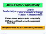 multi factor productivity