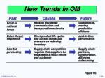 new trends in om