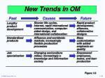 new trends in om1