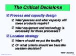 the critical decisions1