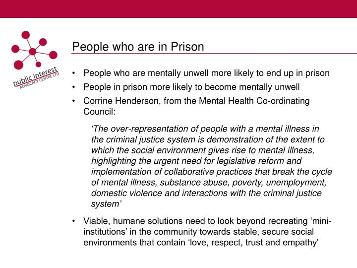 People who are in Prison