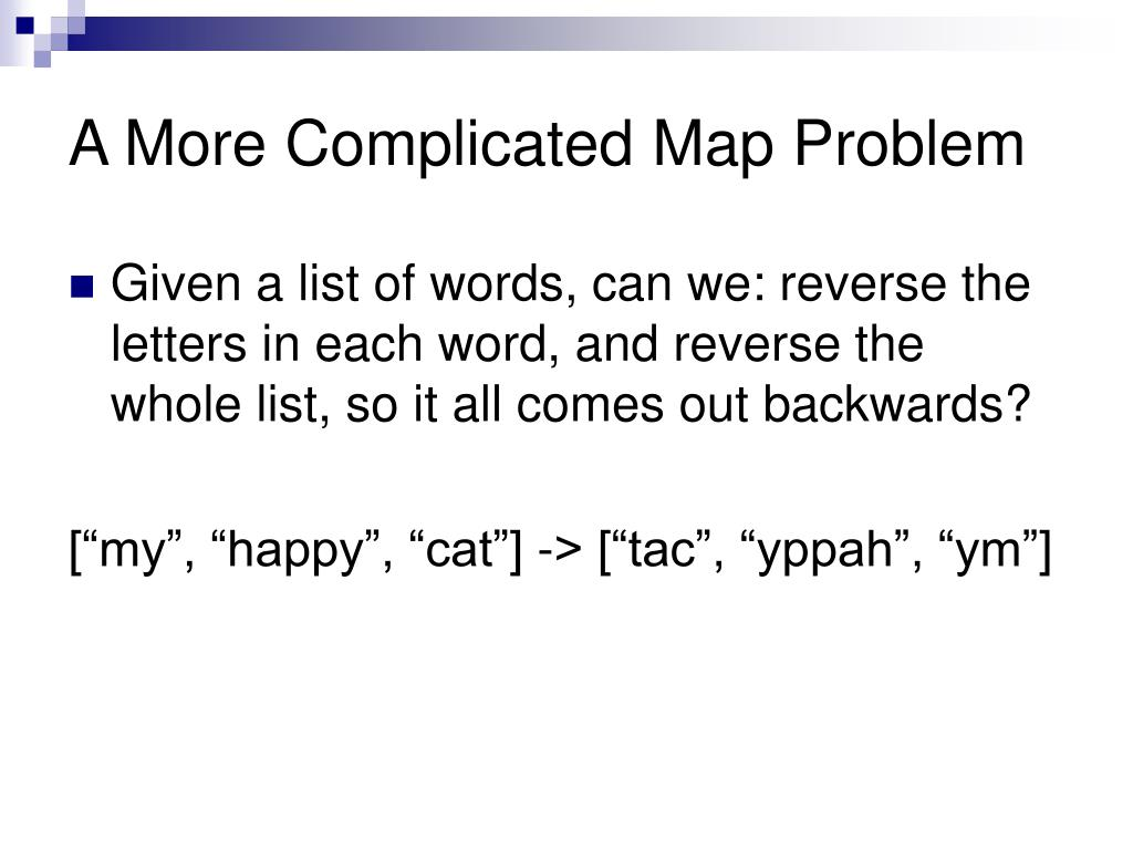 A More Complicated Map Problem
