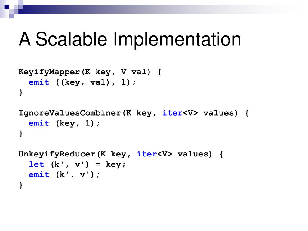 A Scalable Implementation