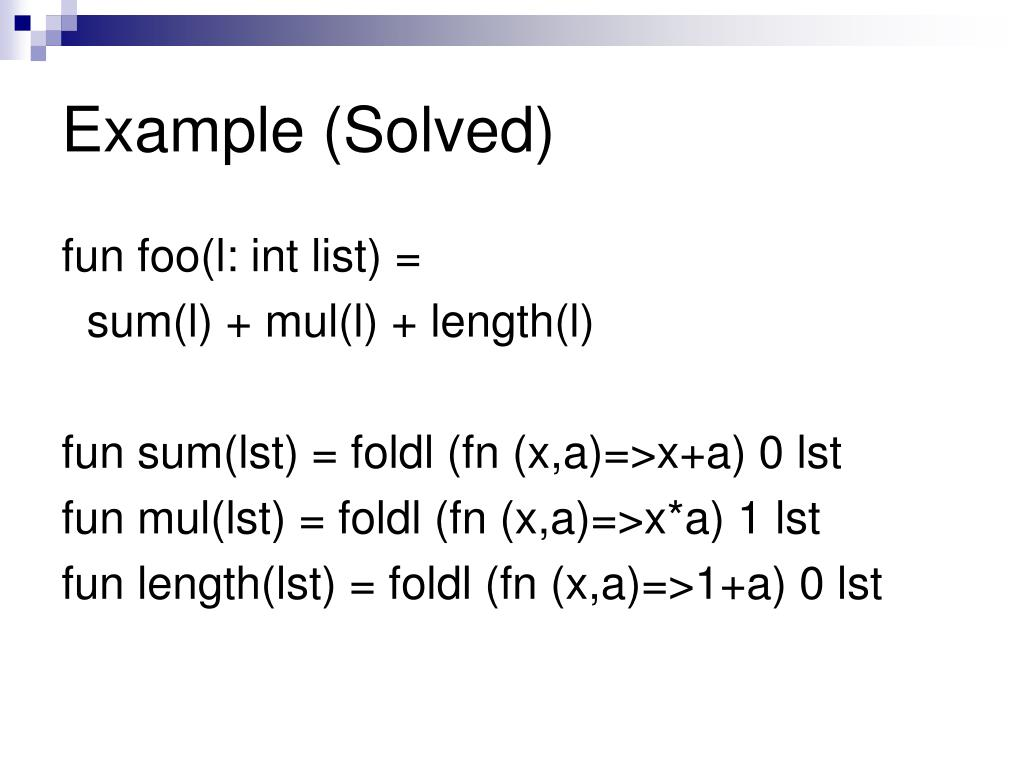 Example (Solved)