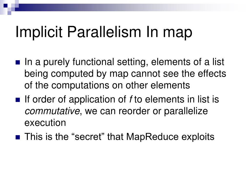 Implicit Parallelism In map