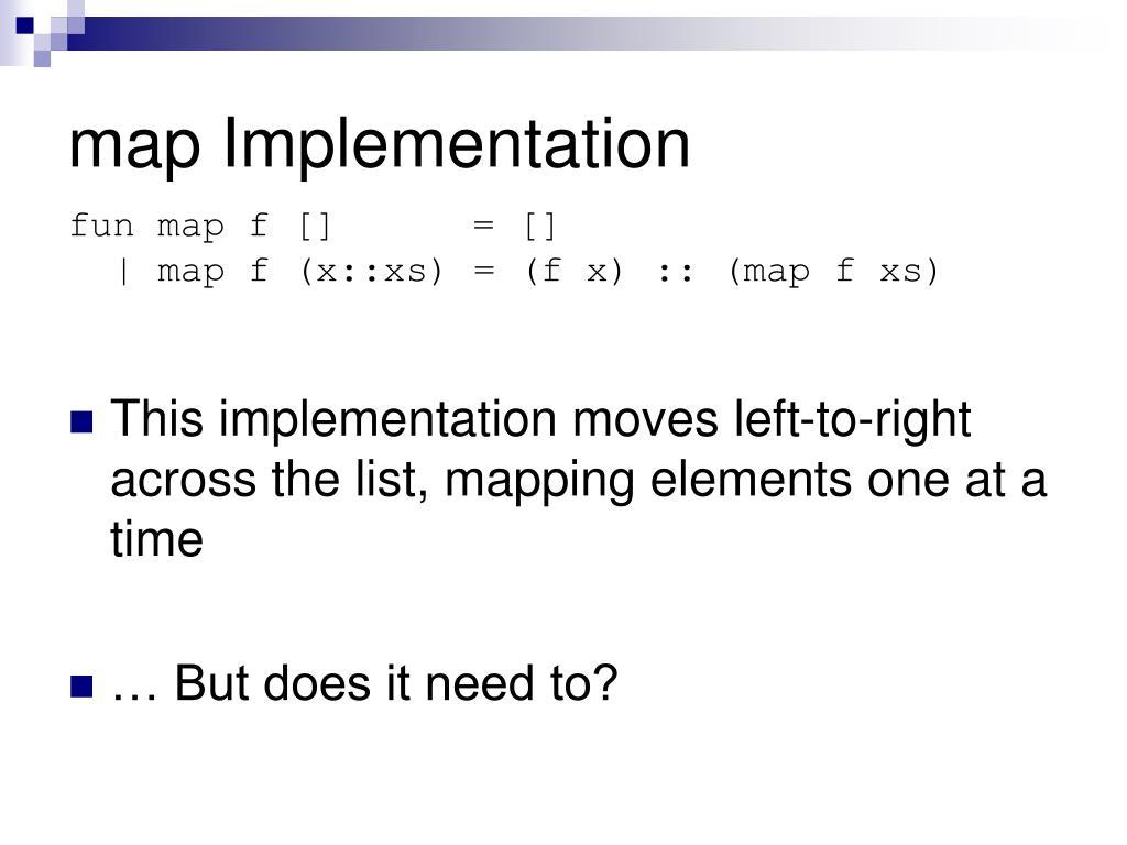 map Implementation