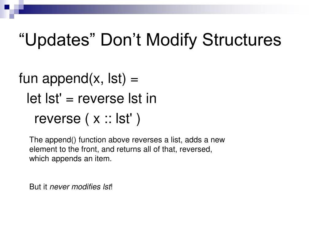 """""""Updates"""" Don't Modify Structures"""