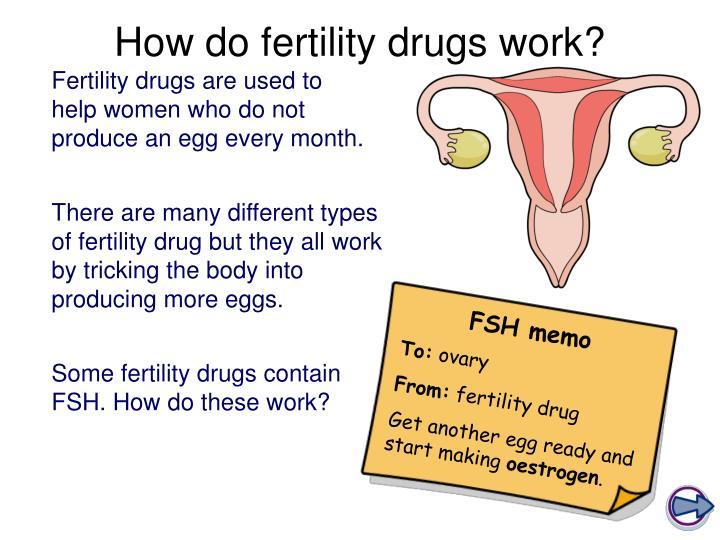 How do fertility drugs work?