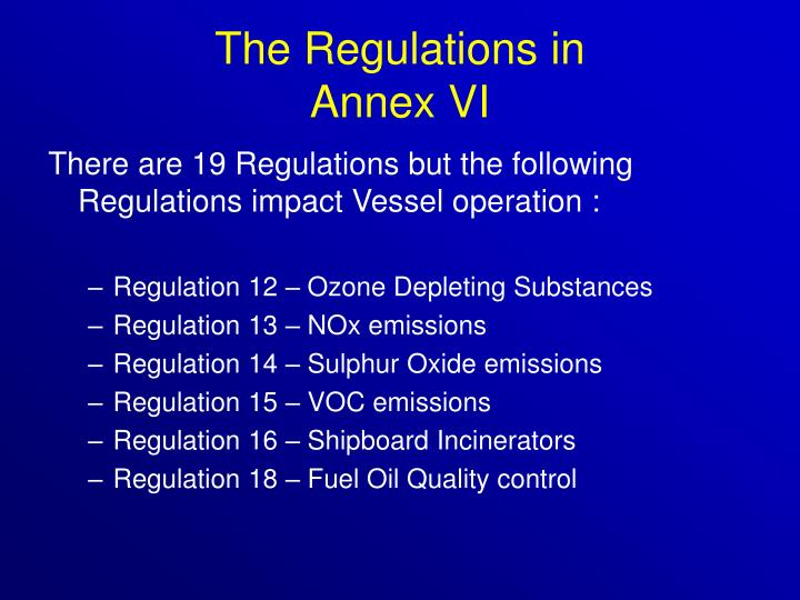 The Regulations in