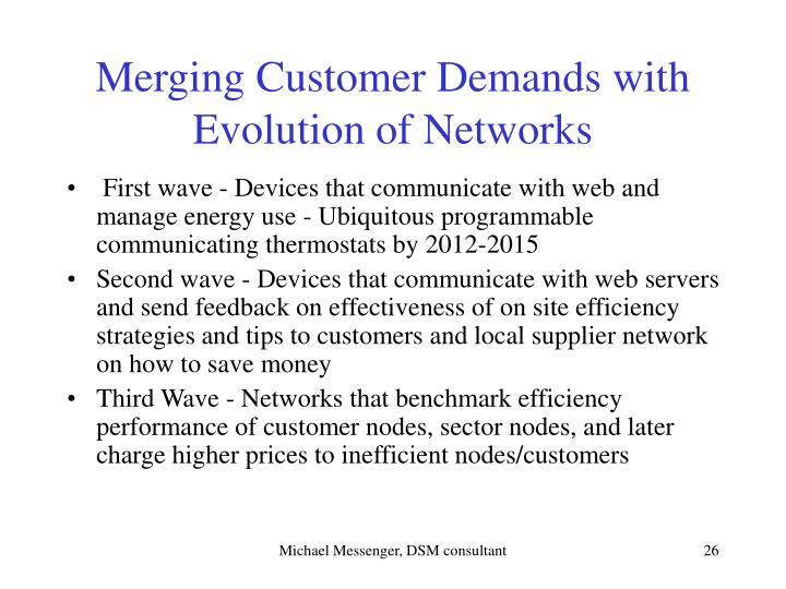 Merging Customer Demands with Evolution of Networks