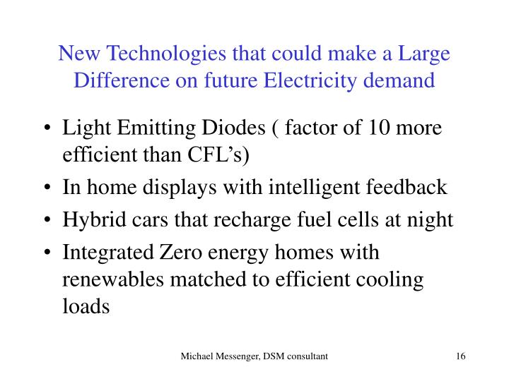 New Technologies that could make a Large Difference on future Electricity demand