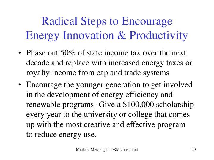 Radical Steps to Encourage