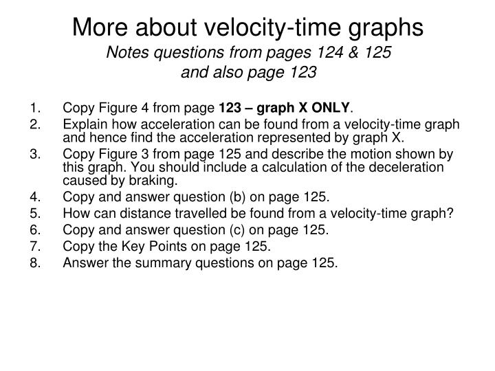 More about velocity-time graphs