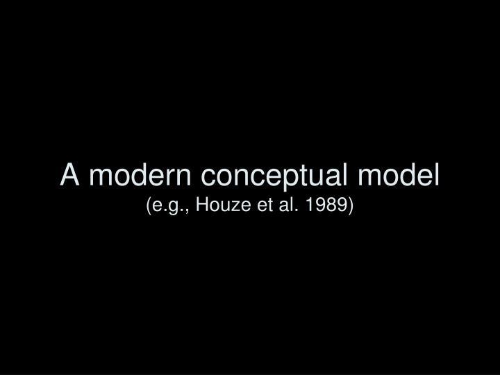 A modern conceptual model