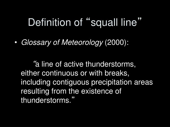 Definition of squall line