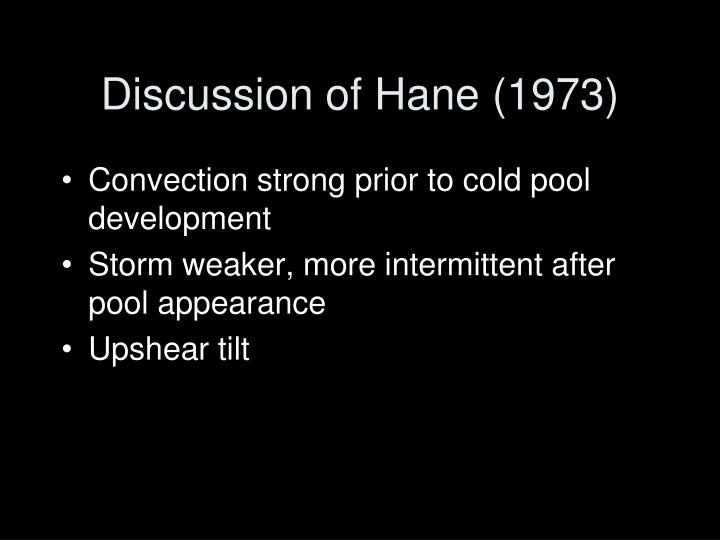 Discussion of Hane (1973)