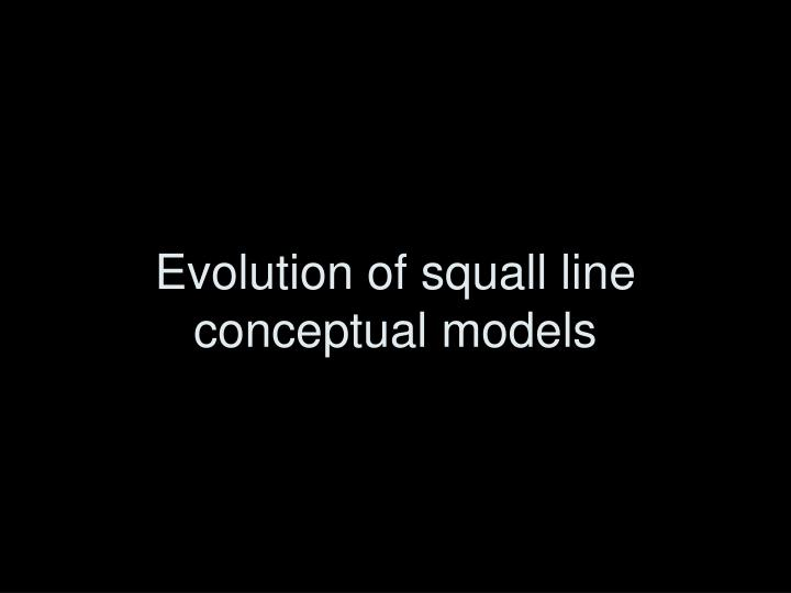 Evolution of squall line conceptual models