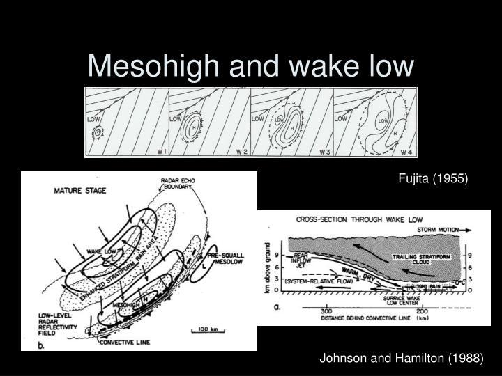 Mesohigh and wake low