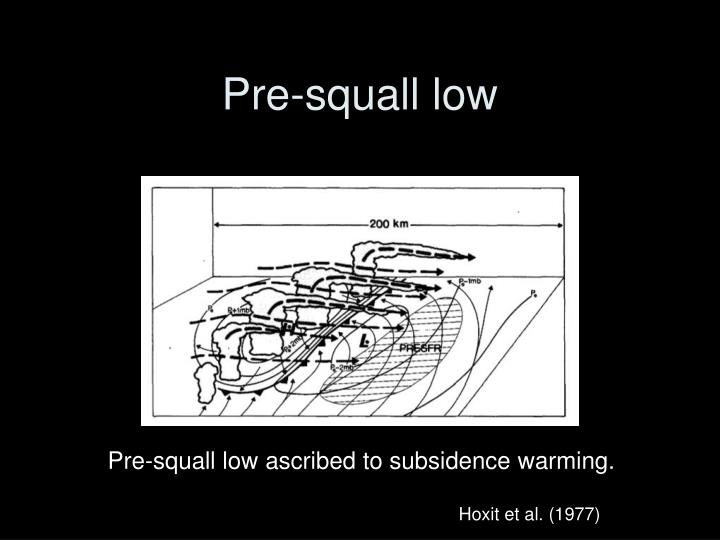 Pre-squall low