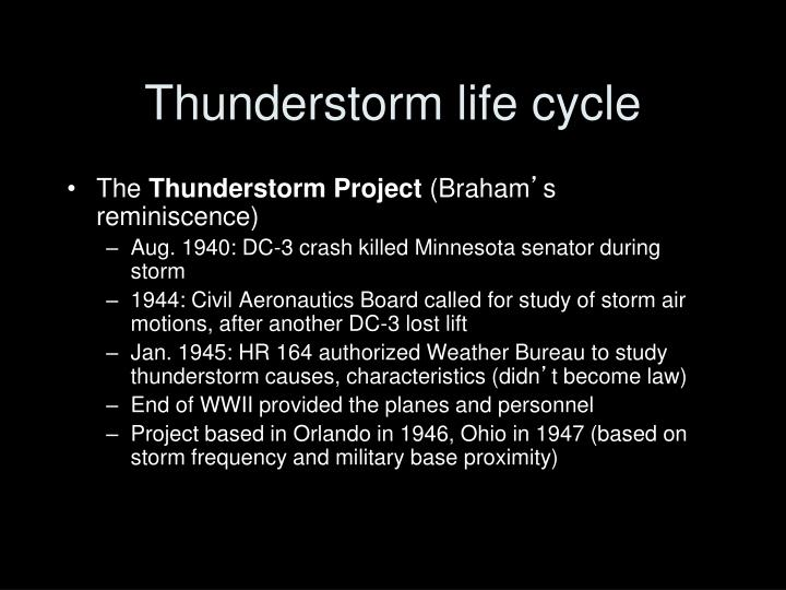 Thunderstorm life cycle