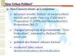 new urban politics