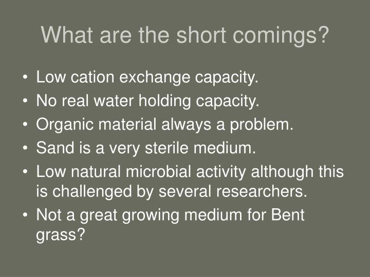 What are the short comings?