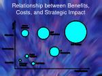 relationship between benefits costs and strategic impact