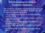 the accountant s role in systems selection