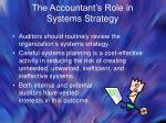 the accountant s role in systems strategy