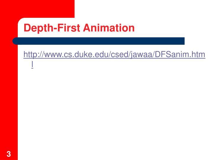Depth first animation