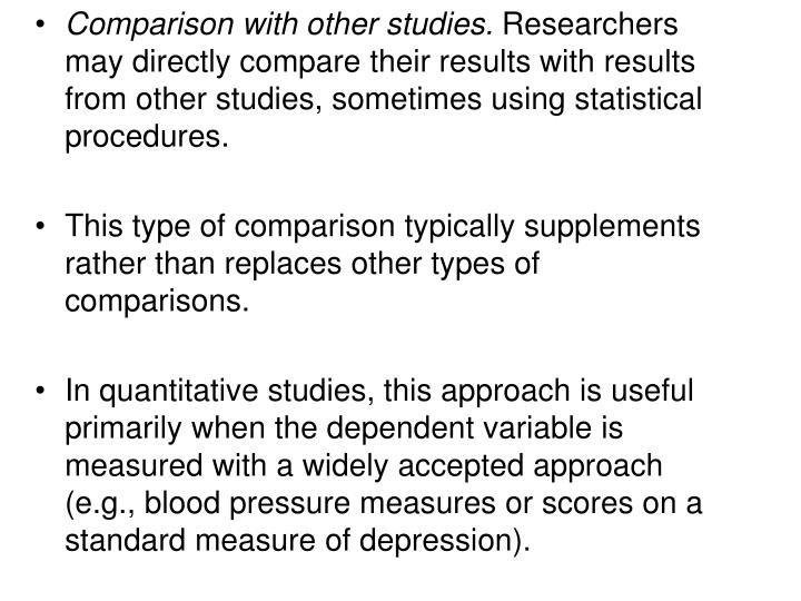 Comparison with other studies.