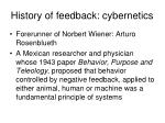history of feedback cybernetics1